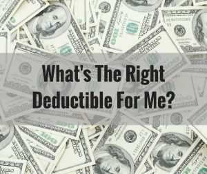 image of lots of money used for the right deductible post