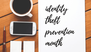 image of coffee and phrase identify theft